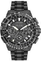 Citizen Eco-Drive Promaster Navihawk Mens World Time GPS Black Titanium Strap Watch CC9025-85E