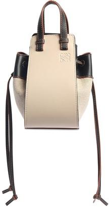 Loewe Mini Hammock Linen & Leather Bag