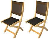 Regal Teak Black Teak Providence Chairs - Set of 2