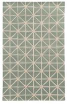 Pantone Optic Wool Area Rug - Green/Gray (5'x8')
