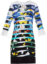 Mary Katrantzou Amellus Techno Flowers Stripe-print dress