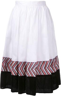 Jupe By Jackie panelled midi skirt
