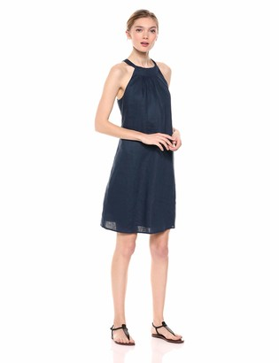 Amazon Brand - 28 Palms 100% Linen Halter Shift Dress Casual