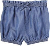 Joe Fresh Baby Girls' Bow Short, Dark Wash (Size 6-12)