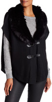 Steve Madden Faux Fur Buckle Front Vest