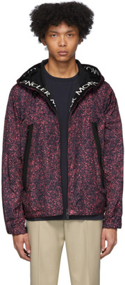 Moncler Black and Pink Siagne Jacket