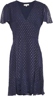 MICHAEL Michael Kors Embroidered Metallic Crepe De Chine Mini Dress