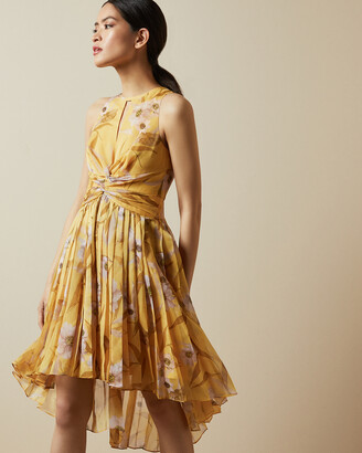 Ted Baker FABULAS Cabana ruched pleated midi dress