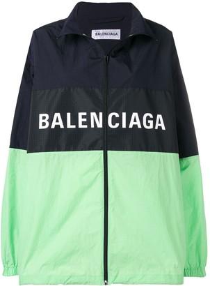 Balenciaga zip up logo jacket