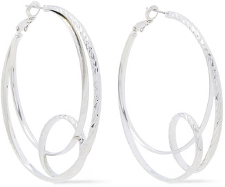 Kenneth Jay Lane Rhodium-plated Hoop Earrings