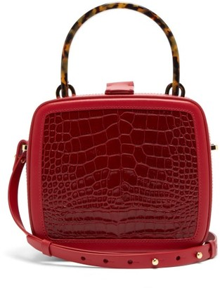 Nico Giani Tunilla Snake-effect Leather Cross-body Bag - Womens - Red