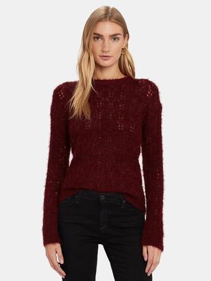 BB Dakota Hot Lashes Fuzzy Pointelle Sweater