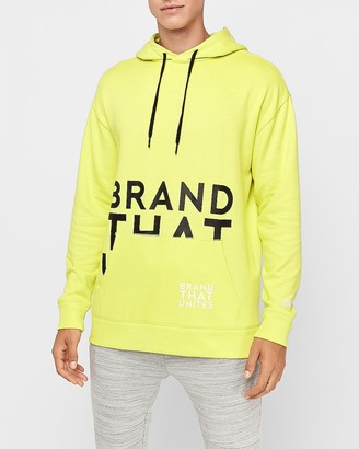 Express Oversized Graphic Fleece Hoodie