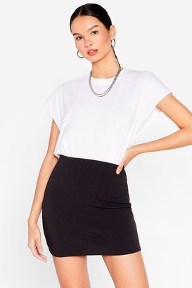 Nasty Gal Womens You Gotta Leg Go High-Waisted Mini Skirt - Black - 8