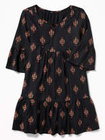 Old Navy Boho Tie-Neck Swing Dress for Girls