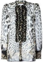 Roberto Cavalli leopard motif shirt - women - Silk - 42