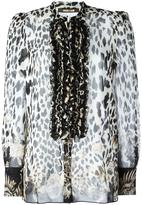 Roberto Cavalli leopard motif shirt