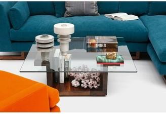"Artless SQG Pedestal Coffee Table Size: 14.5"" H x 28"" L x 28"" W, Color: Walnut"