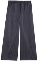Theory Striped Wide Leg Cropped Pants