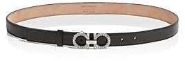 Salvatore Ferragamo Women's Gancini Jewel Embellished Leather Belt