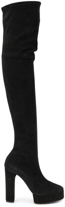 Casadei Textured Knee-Length Boots