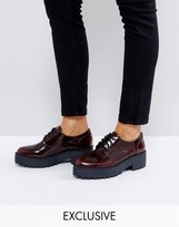 Monki Ombre Patent Brogue