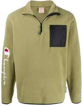 Champion sleeve script half-zip sweater