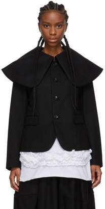Comme des Garcons Black Oversized Collar Jacket