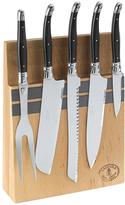 Jean Dubost Le Thiers Laguiole 5-Piece Kitchen Knife Set with Magnetic Block