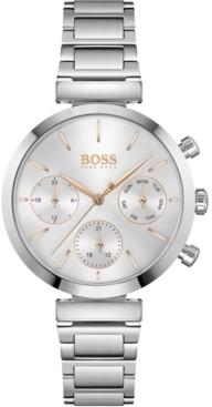 BOSS Women's Chronograph Flawless Stainless Steel Bracelet Watch 36mm