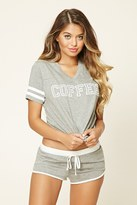 Forever 21 FOREVER 21+ Coffee Graphic PJ Set