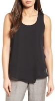Nic+Zoe Women's Promenade Asymmetrical Double Layer Tank