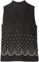Alexander Wang eyelet embellished top - women - Cotton/Linen/Flax - 4