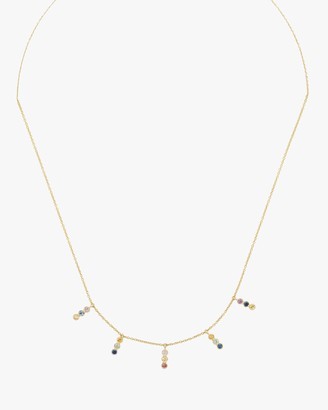 Amrapali Tarakini Diamond Rainbow Sapphire Charm Necklace