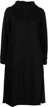 Juun.J Drawstring Hoodie Dress With Pleat Detailing