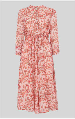 Bali Print Shirt Dress