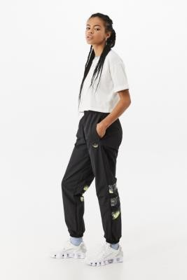 adidas Fluorescent Oversized Track Pants - Black S at Urban Outfitters