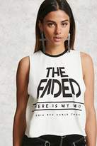 Forever 21 The Faded Graphic Tank Top