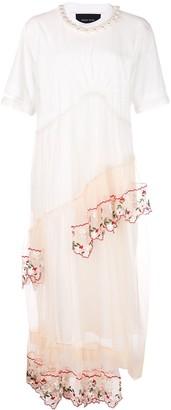 Simone Rocha tulle overlay T-shirt dress