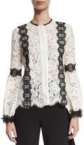 Alexis Daisy Lace Top Black White
