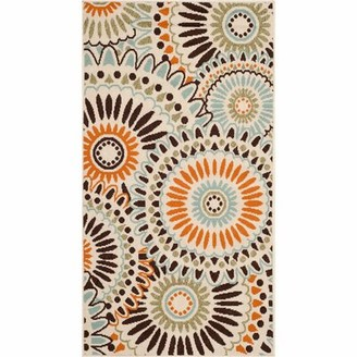 Safavieh Caroline Cream/Chocolate Indoor/Outdoor Area Rug Rug Size: Rectangle 2' x 3'7""