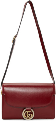 Gucci Red Small GG Ring Shoulder Bag