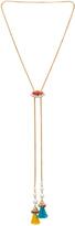 Anton Heunis Crystal Cluster & Tassel Bolo Necklace