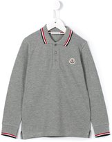 Moncler long sleeve polo shirt - kids - Cotton - 2 yrs