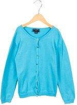 Oscar de la Renta Girls' Button-Up Knit Cardigan