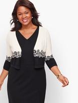 Talbots Plus Size Colorblock Dress Shrug