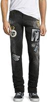 True Religion Rocco Patch Skinny Jeans, Worn Top Black