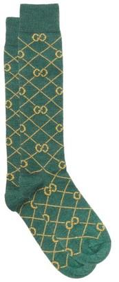 Gucci GG-jacquard Wool-blend Socks - Green