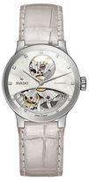 Rado Centrix Stainless Steel & Leather Strap Watch