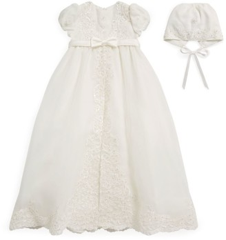 Sarah Louise Floral Beaded Overlay Dress